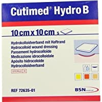 CUTIMED Hydro B Hydrok.Ver.10x10 cm m.Haftr. 5 St Kompressen preisvergleich bei billige-tabletten.eu