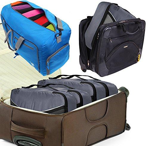 Packwürfel Kleidertaschen Packing cubes Koffertaschen für angenehmes Reisen und aufgeräumte Koffer -Große und mittelgroße Taschen zum Schutz und zur Komprimierung von vielen Kleidungsstücken, Schuhen  Large-Gray