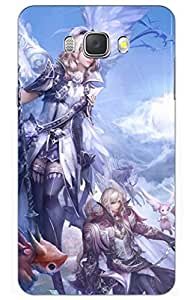 iessential anime Designer Printed Back Case Cover for Samsung Galaxy On8(GOLD)