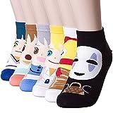Happytree Berühmte Japanische Anime-Cartoon-Socken für Damen Gr. Einheitsgröße, Anime 6 Pairs