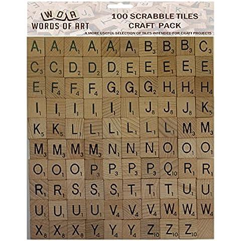 Wooden Scrabble Tiles - Complete replacement set