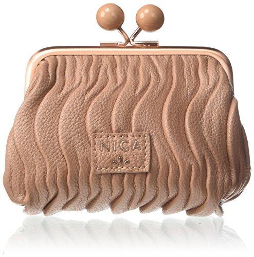 nica Beau, Sacs portés épaule femme, Pink (Almond Quilt), 3x10x10 cm (W x H L)