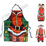 Christmas Cooking Apron Novelty Sexy Santa Claus Xmas Joke Dinner Party Adult Apron - ONE SIZE FITS MEN & WOMEN!