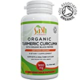 Organic Turmeric Curcumin with added Organic Black Pepper for best absorption | Great for Joint Pain and Arthritis Relief | 120 Veg Capsules | Soil Association Certified | 100% Natural | Made in UK