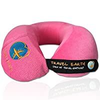 Travel pillow Udream �?� 5 year warranty �?� Ultra soft ergonomic memory foam travel pillow. Best head and neck support, perfect for plane, train, bus and car. Luxury Travel Earth pillow