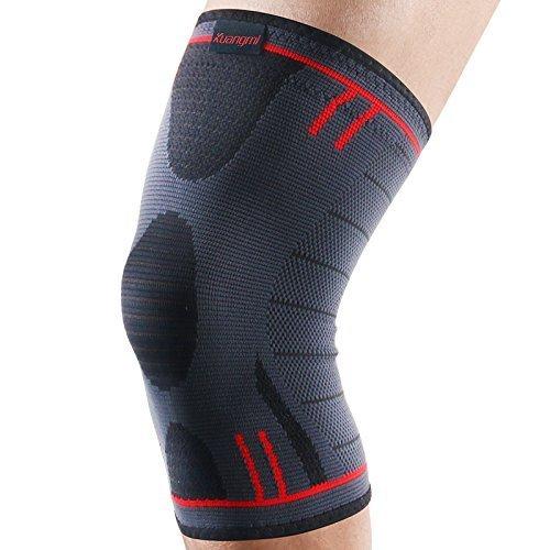 Kuangmi Knie-Stulpe/Knie-Stütze/Bandage, rutschfest, schmerzlindernd und unterstützt die Heilung für Sportler mit Arthritis oder Kniescheibengelenk-Verletzung, 1 Stück, General Blue