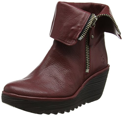 FLY London Yex668fly, Bottes Classiques Femme Rouge (Cordobared 010)
