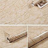 khybd Carta da Parati in Marmo autoadesiva Carta da Parati Impermeabile e antiolio in Vinile per Cucina, Tavolo, focolare, Armadio e Arredamento Industriale 1Mx60CM F