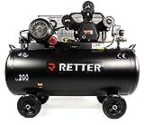 RETTER RT4200 Kompressor 200L, ölgeschmiert Luftkompressor 3 Zylinder