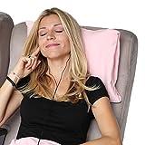 HappyLuxe Odyssee-Reisekissen, hypoallergen, dieses kleine Kissen ist größer als die meisten Airline-Kissen, die besten Reise-Accessoire, Nackenkissen, maschinenwaschbar, Reisens Pink