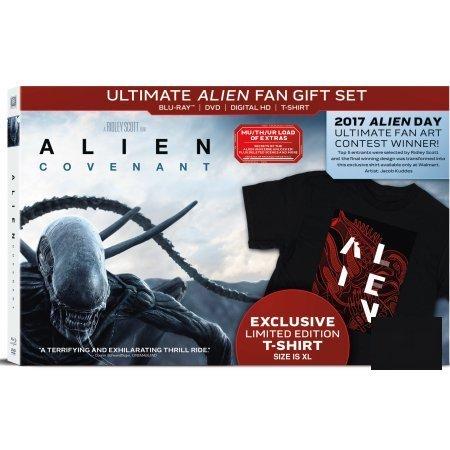 Alien: Covenant (Ultimate Alien Fan Gift Set) (Blu-ray + DVD + Digital HD + T-Shirt) (Limited Edition)