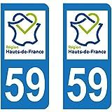 Paire Sticker Hauts-de-France 59 - Nord
