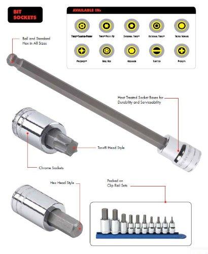 GearWrench 8058012Stück 3/8-Antrieb metrisch Hex Bit Socket Set