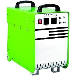 Generador eléctrico portátil iones de litio Hierro Fosfato (LFP/LiFePO4)–230V AC, 12V dc y 5V DC, 1000W, verde, 1