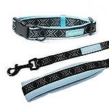 Hamate Memory Foam Hund Halsband und Leine Set