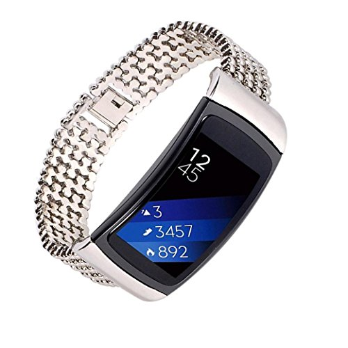 Edelstahl Armband, Tianya Ersatz Armbanduhr Band Armband für Samsung Gear Funk Pro, silber, Band Length: 185mm