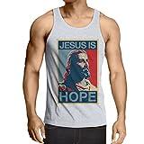 lepni.me Weste Jesus ist die Hoffnung (XX-Large Weiß Mehrfarben)