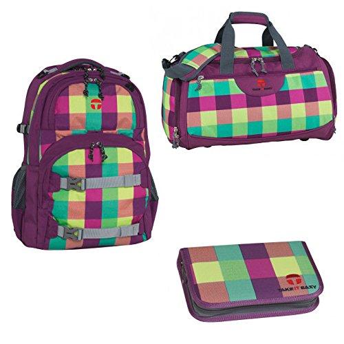 Preisvergleich Produktbild Take it Easy Schulrucksack Oslo Flex Soho 3 tlg (3)