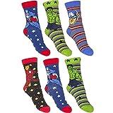 6er Set Avengers Kinder Socken Strümpfe für Jungen Gr. 23-34 wählbar (23-26)