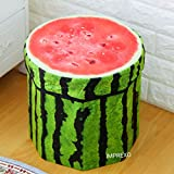 #10: Imprexo Foldable Storage Box Cum Sitting Stool for Kids, Watermelon Fruit Design