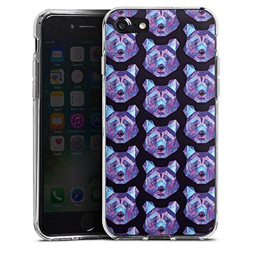 Apple iPhone X Silikon Hülle Case Schutzhülle Bär Weltall Muster Silikon Case transparent