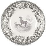 Spode–Delamere rurales 6pulgadas plato de ciervo–Juego de 4
