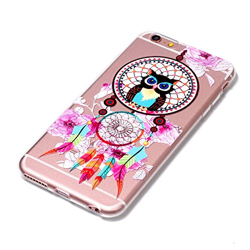 iPhone 6 Plus Hülle, Voguecase Silikon Schutzhülle / Case / Cover / Hülle / TPU Gel Skin für Apple iPhone 6 Plus/6S Plus 5.5(Asleep Cat 01) + Gratis Universal Eingabestift Eule Campanula 02