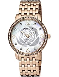 2545a7a8bd20 ORPHELIA Reloj Analogico para Mujer de Cuarzo con Correa en Acero  Inoxidable OR12705