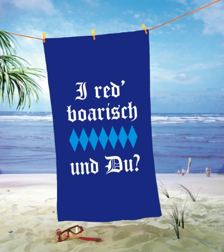 Strandtuch I red Boarisch