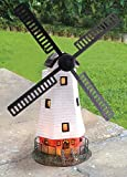 Traditional Solar Powered Windmill Wind with Led Light Garden Ornament