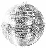 Große Discokugel GLIX mit Echtglasfacetten, Ø 100 cm, silber - Spiegelkugel - 70er 80er Jahre Disco Effekt - showking
