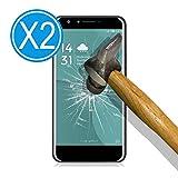 WoowCase 9H Tempered Glass [2 Stück] Premium Hartglas Bildschirmschutzfolie für [ Doogee Y6 4G ], Gehärtetem Glas