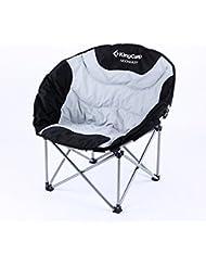 Kingcamp–Silla de camping & trekking–69* 86* 80cm–Estructura en acero y textil impermeable–carga hasta 150kg–Bolsa de transporte incluido