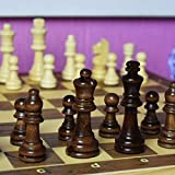International Chess, Quality Wooden Folding Magnetic Chess Set Solid Wood Chessboard Magnetic Pieces Entertainment Board Game