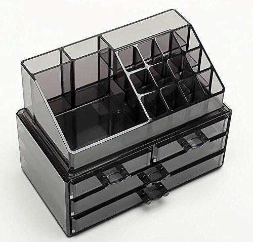 a1ddbdc74 FOBUY Caja acrílica Estante de maquillajes Maquillaje Cosméticos ...
