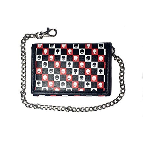 Portafoglio con catena in caso di colori e motivi, 141 (Nero) - 22410 164