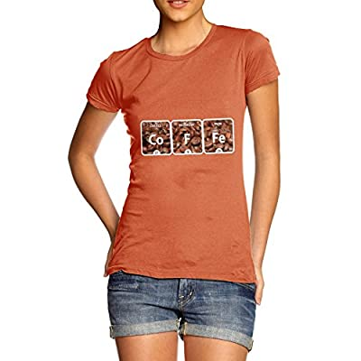 Twisted Envy Women's Coffee Periodic Table T-Shirt