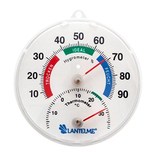 Lantelme 4127 Kombi Thermometer / Hygrometer Analog Durchmsser 11,5 cm