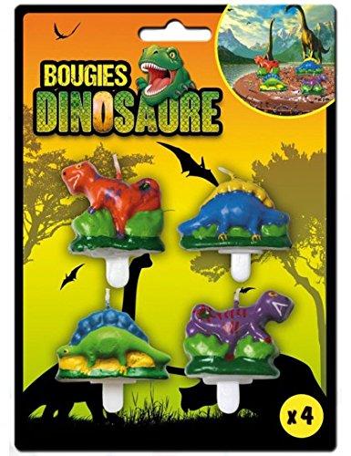 Dinosaurio velas del cumpleaños (x4)