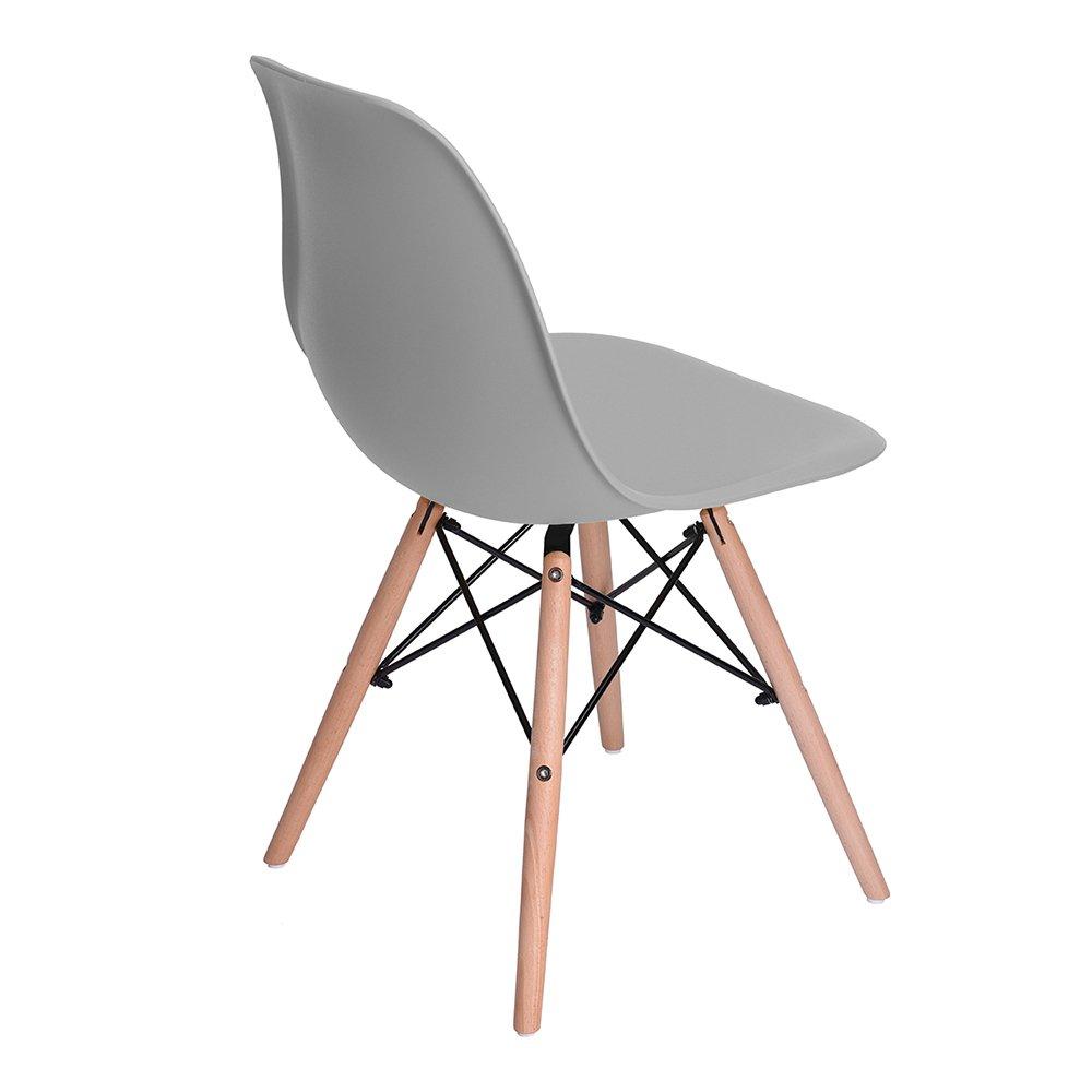 4 x grau st ck stuhl wohnzimmerstuhl eiffel esszimmerstuhl for Design stuhl eiffel