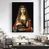 ZYWGG Leinwanddruck Bild Druck Mädchen Mit Kirschen Berühmte Leinwandbilder Reproduktionen Von Italien Berühmte Künstler Leinwandbilder