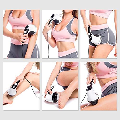 51TfrTAPawL - Ikeepi Masajeador Anticelulítico Eléctrico con 4 cabezas reemplazadas, Masaje portátil para aliviar el dolor muscular, calma los músculos, levanta el cuerpo