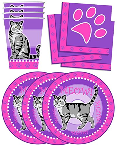 n Birthday Party Supplies Set Plates Napkins Cups Tableware Kit for 16 ()