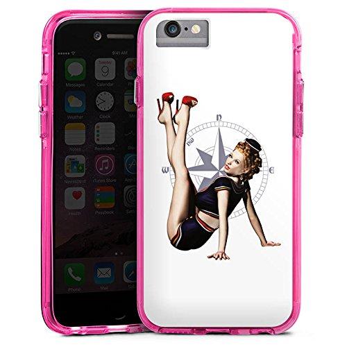 Apple iPhone 8 Bumper Hülle Bumper Case Glitzer Hülle Rock N Roll Style Music Bumper Case transparent pink