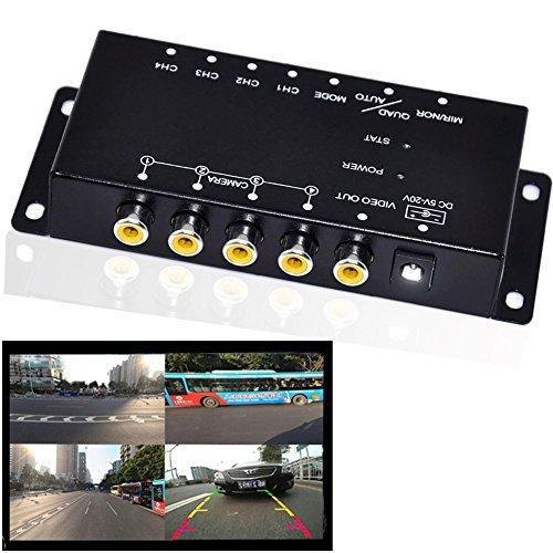 Auto Wayfeng WF® IR-Steuerung 4 Kameras Video-Steuerung Auto-Kameras Bild-Schalter Combiner-Box für die Linke Ansicht Rechte Ansicht Vorne Hinten Parkplatz Kamera-Box -