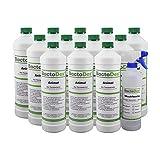 BactoDes Animal Tier Geruchsentferner - 12 x 1 Liter inkl. Mischflasche - Geruchskiller bei Katzenurin, Hundeurin und Kleintiere