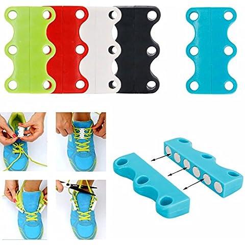 iEFiEL Cordones Magnéticos para Zapatos Reutilizables de Imán (No hace falta atarse los cordones de zapatos)