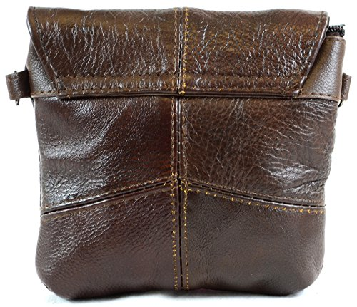 Da donna in pelle con comoda tracolla/borsa a tracolla/borsa con tracolla staccabile (nero, marrone, marrone chiaro) Marrone (Marrone scuro)