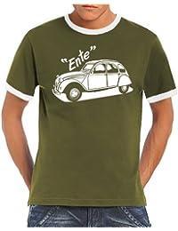 Youngtimer - Citroen Model 2 CV Ente Ringer / Contrast T-Shirt S-XXL div. Couleurs