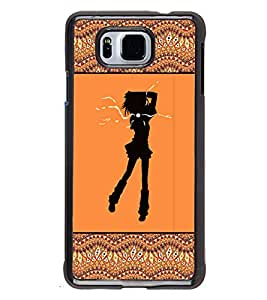 Printvisa 2D Printed Girly Designer back case cover for Samsung Galaxy Alpha- D4264